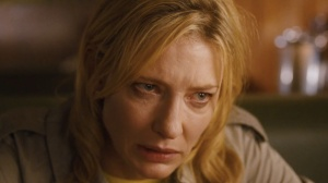 The self-destructive Jasmine (Cate Blanchett) in Blue Jasmine