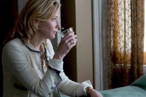 Jasmine (Cate Blanchett) hits the bottle again in Blue Jasmine