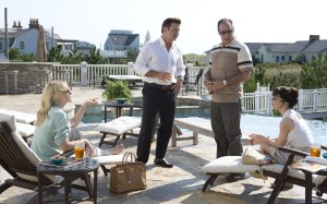 Jasmine's (Cate Blanchett) wealthy husbad Hal (Alec Baldwin) woos Augie (Andrew Dice Clay) and Ginger (Sally Hawkins) in Blue Jasmine