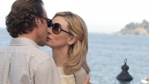 Jasmine (Cate Blanchett) finds the chance of a new life with Dwight (Peter Sarsgaard) in Blue Jasmine