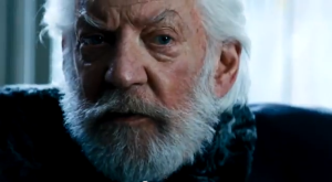 The banally evil President Snow (Donald Sutherland) in The Hunger Games: Catching Fire