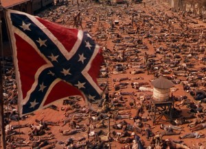 The end is nigh for the Old South in its battle against the Yankee North in Gone With The Wind