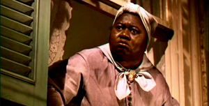 Oscar-winning Hattie McDaniel as house servant Mammy in Gone With The Wind