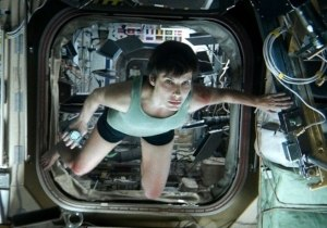 Dr Ryan Stone (Sandra Bullock) reaches the relative safety of the International Space Station in Gravity
