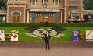 Walt Disney (Tom Hanks) himself at Disneyland in Saving Mr Banks