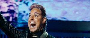 Talk show host from hell Caesar Flickman (Stanley Tucci) in The Hunger Games: Catching Fire