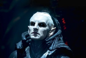 The evil Dark Elves ruler Malekith (Christopher Eccleston) in Thor: The Dark World