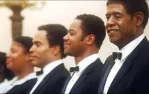 Cecil (Forest Whitaker) and fellow White House butlers James Holloway (Lenny Kravitz) and Carter Wilson (Cuba Gooding Jr) in The Butler