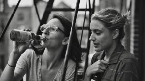 Frances (Greta Gerwig) and best friend Sophie (Mickey Sumner) in Frances Ha