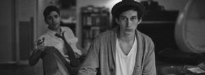 Frances' one-time flatmates Lev (Adam Driver) and Benji (Michael Zegen) in Frances Ha