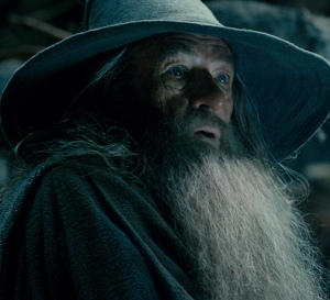 Gandalf (Ian McKellen) comes face-to-face with evil in The Hobbit: The Desolation Of Smaug
