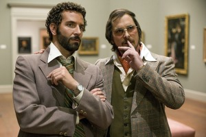 FBI agent Richie Di Maso (Bradley Cooper) and con man Irving Rosenfeld (Christian Bale) in American Hustle