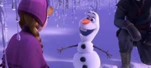 Olaf (Josh Gad) just wants a hug in Frozen