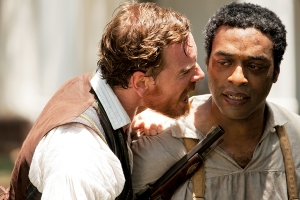 Solomon Northup (Chiwetel Ejiofor) is brutalised at the hands of psychopathic plantation owner Edwin Epps (Michael Fassbender) in 12 Years A Slave