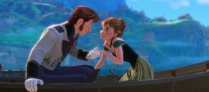 The dashing Prince Hans (Santino Fontana) sweeps Anna (Kristen Bell) off her feet in Frozen