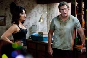 Redneck Ansel (Thomas Haden Church) and trailer trash wife Sharla (Gina Gershon) in Killer Joe