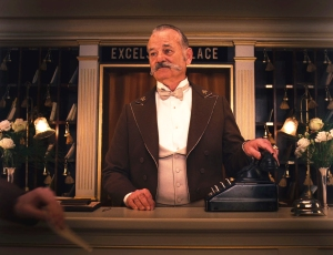 The one and only Bill Murray plays hotel concierge M. Ivan in The Grand Budapest Hotel