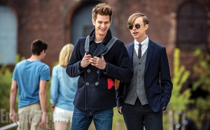 Peter Parker (Andrew Garfield) catches up with old buddy Harry Osborn (Dane DeHaan) in The Amazing Spider-Man 2