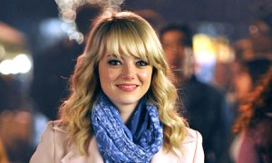 Peter Parker's love interest Gwen Stacy (Emma Stone) in The Amazing Spider-Man 2