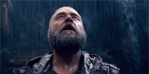 Noah (Russell Crowe) finally feels the rain in Noah
