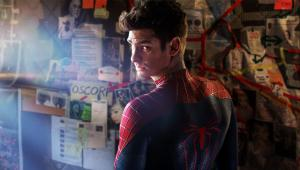 Peter Parker (Andrew Garfield) investigates the death of his parents in The Amazing Spider-Man 2