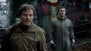 Nuclear physicist Joe Brody (Bryan Cranston) and son Ford (Aaron-Taylor Johnson) go in search of the truth in Godzilla