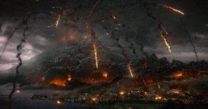 Mt Vesuvius gets angry in Pompeii