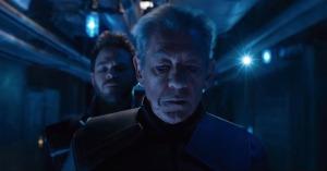 Future Magneto (Ian McKellen) and Iceman (Shawn Ashmore) in X-Men: Days of Future Past
