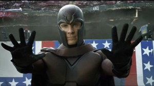 1970s era Magneto (Michael Fassbender) tries to stop traffic in X-Men: Days of Future Past