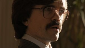 Military scientist and businessman Bolivar Trask (Peter Dinklage) in X-Men: Days of Future Past