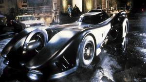 The Batmobile, as imagined in Tim Burton's Batman