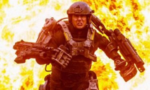 Major William Cage (Tom Cruise) finds himself on the frontline in Edge Of Tomorrow