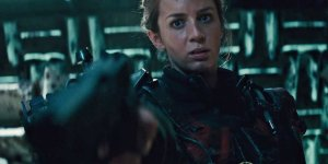 Super soldier Rita Vrataski (Emily Blunt) does the business in Edge Of Tomorrow