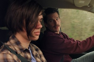 Mason Snr (Ethan Hawke) has a spot of father-son time with Mason Jnr (Ellar Coltrane) in Boyhood
