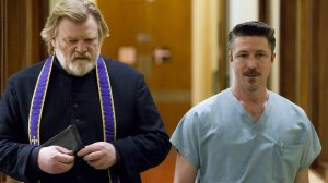 Father James (Brendan Gleeson) is joined by Dr Frank Harte (Aidan Gillen) in Calvary
