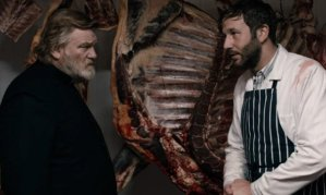 Father James (Brendan Gleeson) gets a butchers with Jack Brenan (Chris O'Dowd) in Calvary
