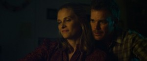 Richard Dane (Michael C. Hall) in a rare moment of peace with wife Ann (Vinessa Shaw) in Cold In July