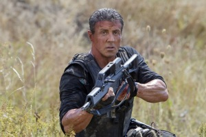 Sly Stallone reprises his role as Barney Ross in The Expendables 3