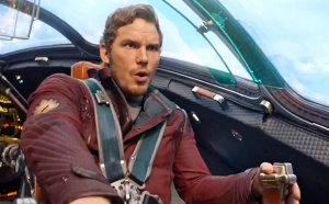 The heroic Peter Quill/Star Lord (Chris Pratt) in Guardians Of The Galaxy