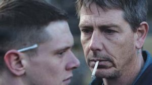 Like father, like son... Neville (Ben Mendelsohn) discovers son Eric (Jack O'Connell) is inside in Starred Up