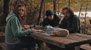 Dena (Dakota Fanning), Josh (Jesse Eisenberg) and Harmon (Peter Sarsgaard) prepare their direct action in Night Moves