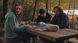 Dena (Dakota Fanning), Josh (Jesse Eisenberg) and Harmon (Peter Sarsgaard) prepare their direct action in Night Moves