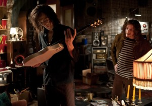 Adam (Tom Hiddleston) acquires another vintage guitar from Ian (Anton Yelchin) in Only Lovers Left Alive