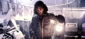 Macready (Kurt Russell) makes a discovery he'll soon regret in The Thing