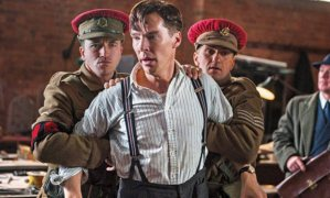 Alan Turing (Benedict Cumberbatch) gets on the wrong side of the military in The Imitation Game
