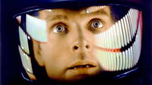 Dr Dave Bowman (Keir Dullea) stares into the void in 2001: A Space Odyssey