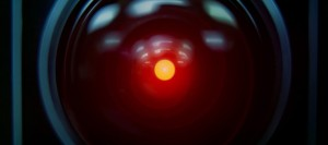 The unforgettable HAL 9000 (voiced by Douglas Rain) in 2001: A Space Odyssey