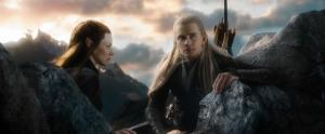 Legolas (Orlando Bloom) and fellow elf Tauriel (Evangeline Lilly) go in search of orcs in The Hobbit: The Battle Of The Five Armies