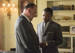 Martin Luther King Jr (David Oyelowo) takes President Johnson (Tom Wilkinson) to task in Selma