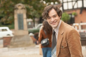 Widower Jonathan Jones (Charlie Cox) in The Theory Of Everything